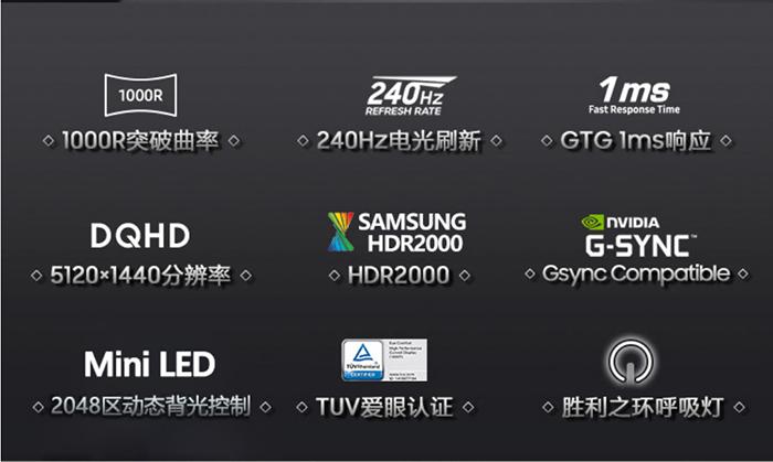 三星曲面Odyssey Neo G9显示器7月29日发售